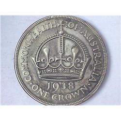 1938 Australia One Crown (Tough Date)