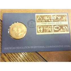 American Revolution Bicentennial Comm. Medal FDC