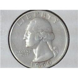 1950-S Washington Silver Quarter