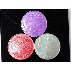 3 Assorted Mardi Gras Tokens
