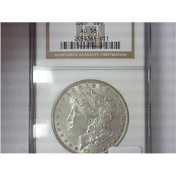 1885 Morgan Silver Dollar NGC AU58