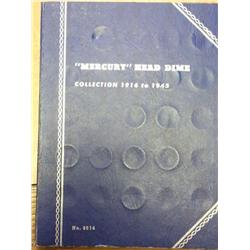 Whitman Album Of Mercury Dimes (33 Coins)