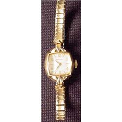VINTAGE HAMILTON LADIES WATCH - 10K RGP Bezel
