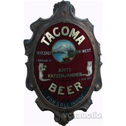 Tacoma Beer, Anti Katzenjammer Oval Curved Reverse Glas