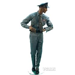 Life-Size Mannequin Wearing Texaco Uniform - 6' Tall