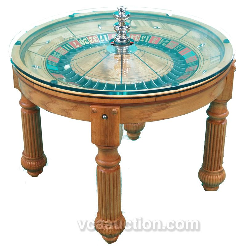 Roulette wheel coffee table