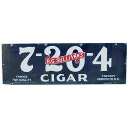 "R.G. Sullivan's Cigars Porcelain Sign - 36"" x 12"""
