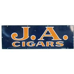 "J.A. Cigars Porcelain Sign, Has Some Touch-Up - 36"" x 1"