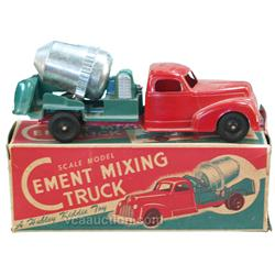 Hubley Kiddie Toy Scale Model Cement Mixing Truck, Meta