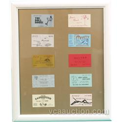 "10 Nevada Brothel Business Cards In Frame - 22"" x 27"""