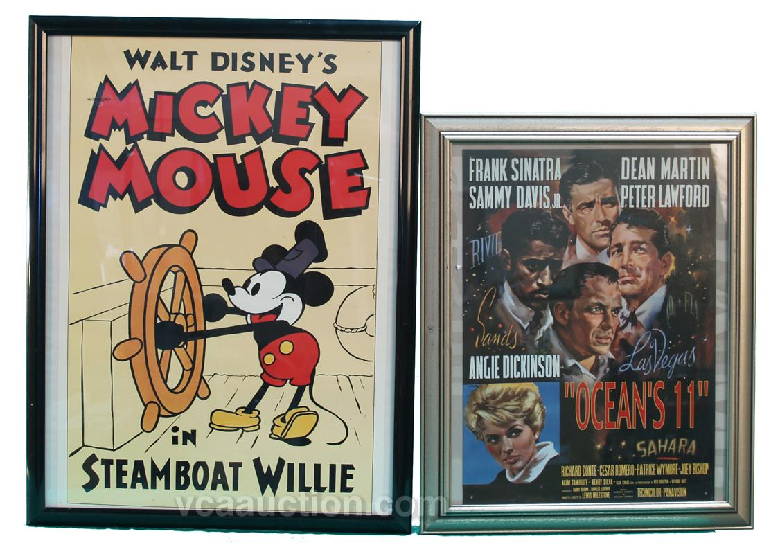 Lot Of 4 Framed Old Movie Posters: \