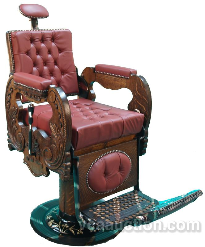 1 of 2 matching berninghaus barber chairs very heavily - Fauteuil barbier occasion ...