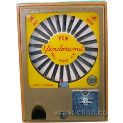 10 Cent  Vendorama  Countertop Ball Point Pen Vending M