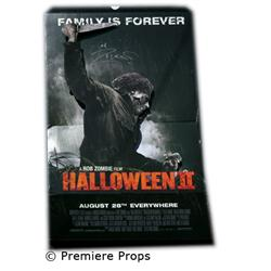 Halloween II Stand Up Poster Autographed by Rob Zombie Movie Props