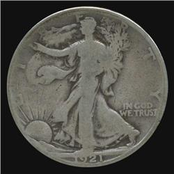 1921S Walking Liberty Half Circulated (COI-4353)