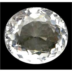 22.54ct Oval Top AAA VVS White Silver Quartz (GEM-9632)
