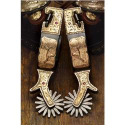 Marlin Spurgeon Silver & Gold Spurs