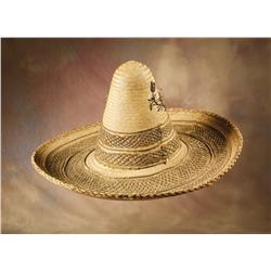 Pair of Mexican Straw Sombreros