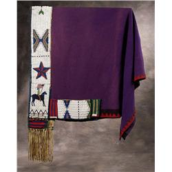 Sioux Beaded Pictorial Saddle Blanket