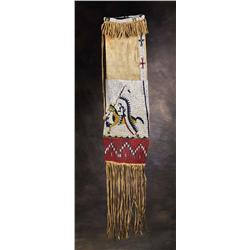 Sioux Pictorial Beaded Pipe Bag