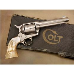 Colt Single Action with Carved Steerhead Pearl Grips