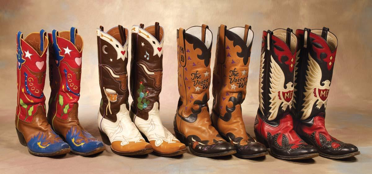 4 Pairs of Fancy Special Order, size 13 Cowboy Boots made for ...