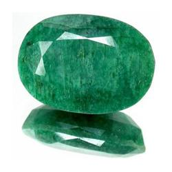 13.78ct. Excellent Oval Cut S. American Emerald  EST: $1000 - $5000 (GMR-0013)