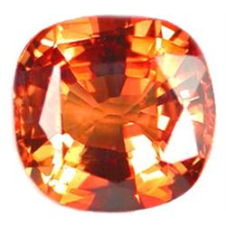 1.69ct VVS  Superior Orange Sapphire Cushion  (GEM-10156)