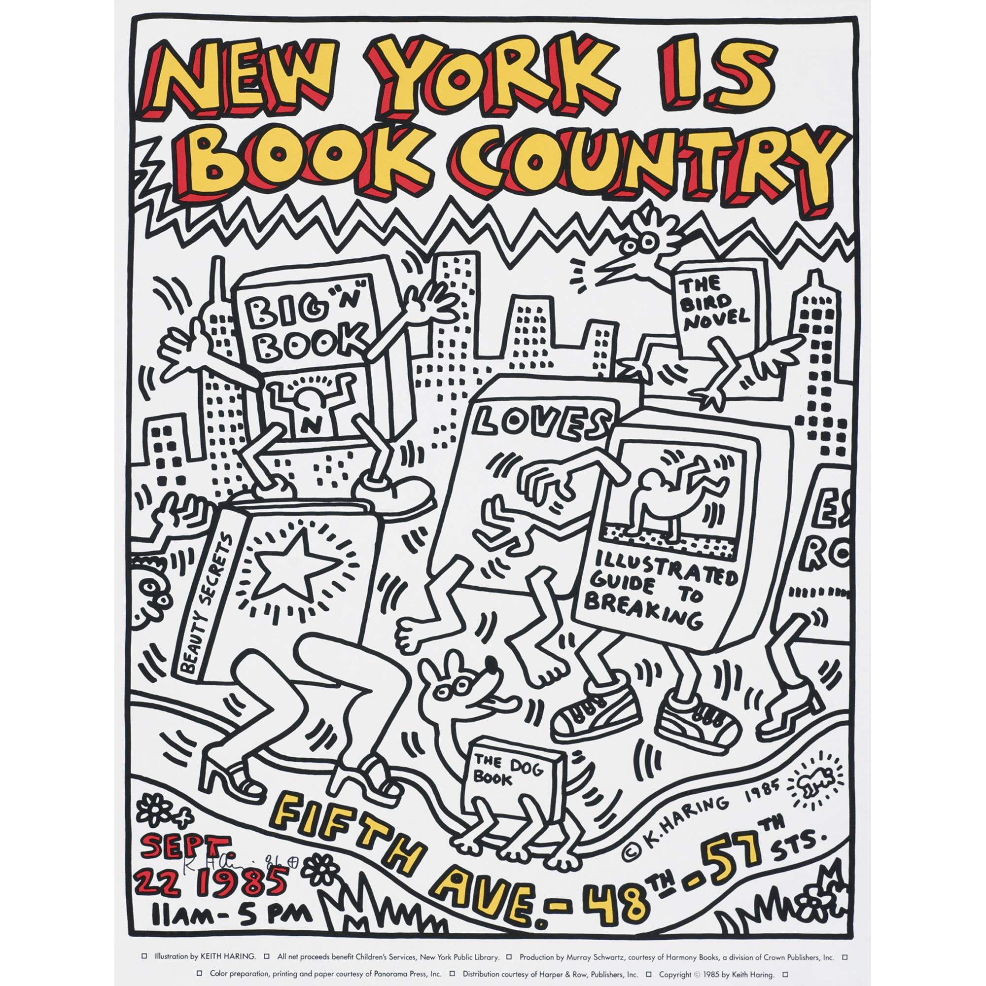 Keith Haring New York is Book Country poster