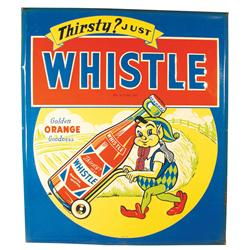 Whistle Beveled Tin Advertising Sign