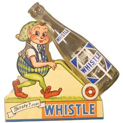 Whistle Soda Bottle Advertising Display