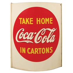Coca Cola Advertising String Holder. Two sided tin