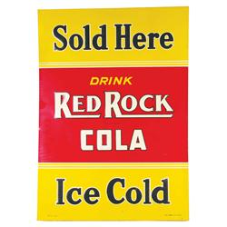 Red Rock Cola Embossed Tin Advertising Sign
