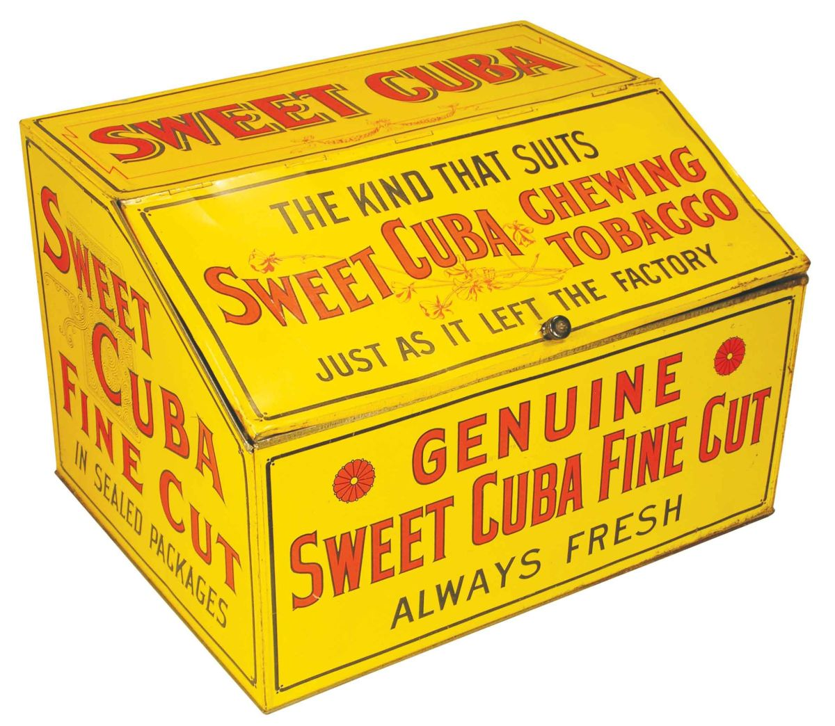 Sweet Cuba Chewing Tobacco Tin Store Bin - Free invoices and estimates tobacco online store
