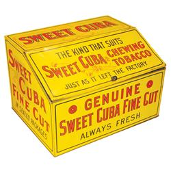 Sweet Cuba Chewing Tobacco Tin Store Bin