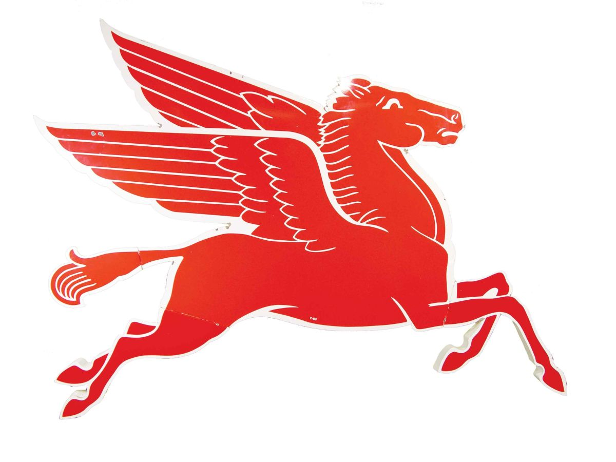 mobil oil company porcelain pegasus advertising sign