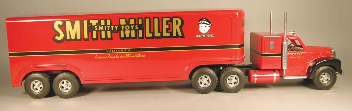 18 Toy Trucks : Smith miller toy truck smitty wheeler red mack