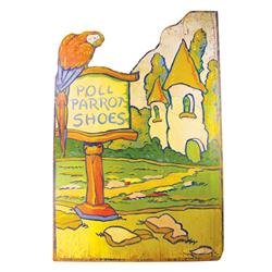 Poll Parrot Shoes Advertising Sign