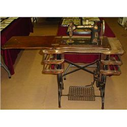 ANTIQUE A G MASON ROTARY SPECIAL TREADLE SEWING MA