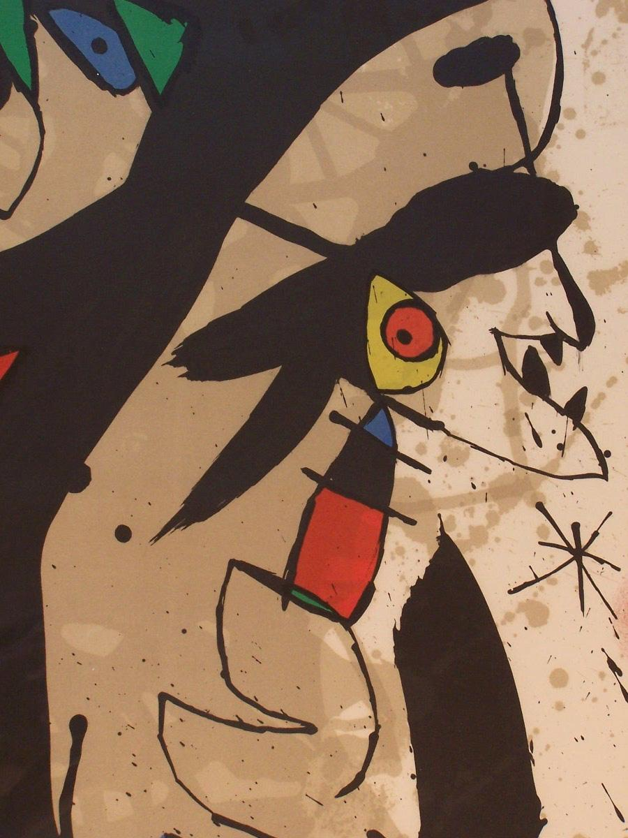 joan miro litho spanish surrealism 1973