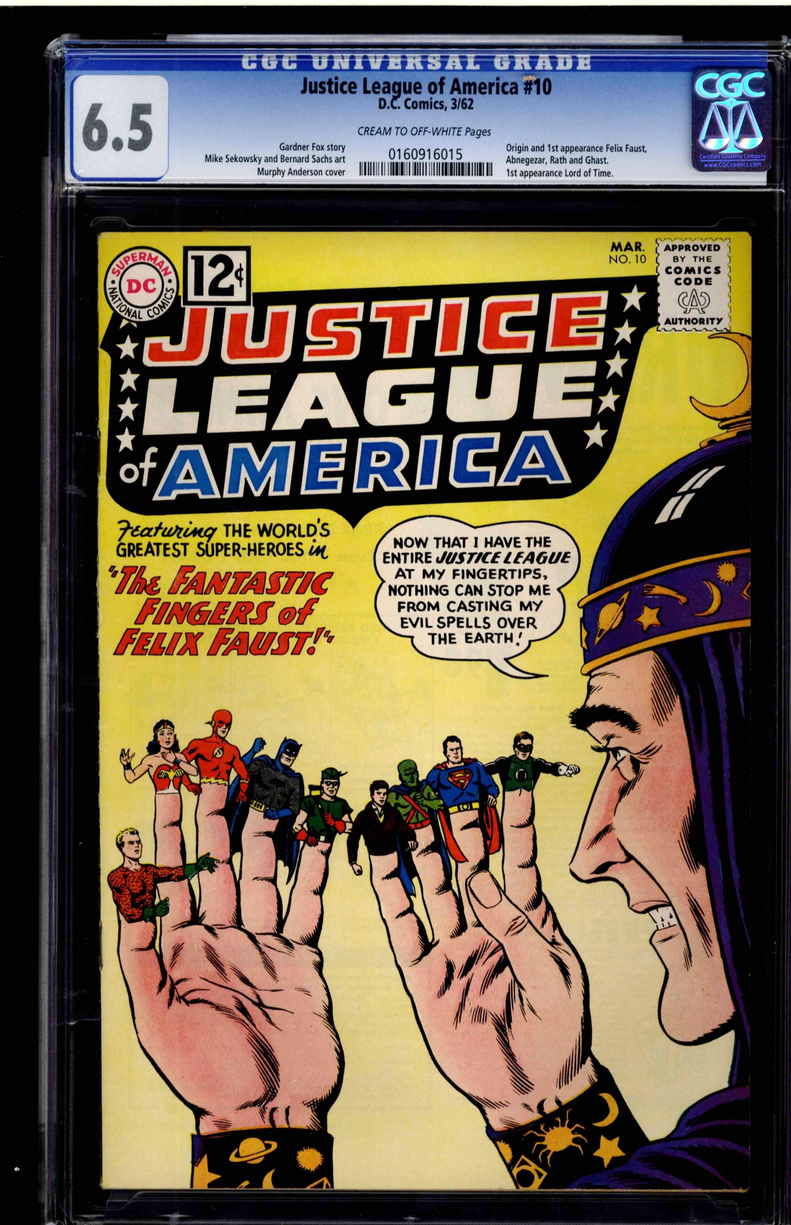 Justice League Of America 10 Cgc 65 Cream To Off White Pages