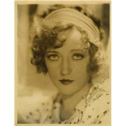 Marion Davies oversize portrait by George Hurrell signed