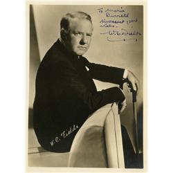 W. C. Fields signed portrait