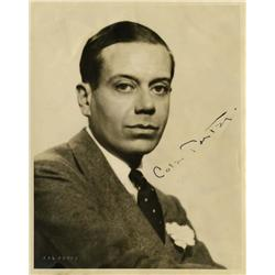 Cole Porter signed portrait