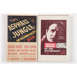 Two cast-signed books: The Asphalt Jungle and On the Waterfront