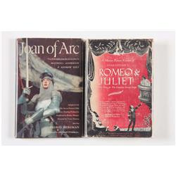 Two cast-signed books: Romeo & Juliet and Joan of Arc