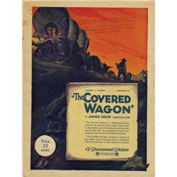 James Cruze signed oversize portrait and The Covered Wagon Grauman's Theatre program