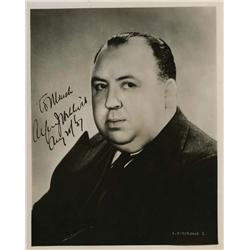 Alfred Hitchcock signed portrait