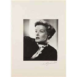 Katharine Hepburn exhibition portrait from Mary of Scotland by Ernest A. Bachrach