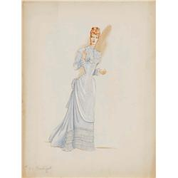 Milo Anderson costume design sketch for Irene Dunne from Life with Father